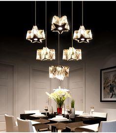 Ресторан огни LED Хрустальная люстра три теплых личности стол круговой столовая огни бар лампа лампы минималистский висячий провод -tmall.com Lynx