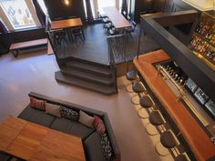 Restaurant-bar Le Rosewood - 60 St-Jacques, Old Montreal.   Designed by Motif Crédit Photo: Eve Dubuc St Jacques, Old Montreal, Motif Design, Restaurant Bar, Stairs, Interior Design, Architecture, Home Decor, Ladders
