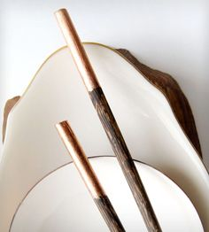 These make me want to eat everything with chopsticks....Bandeau Hand-Carved Wooden Chopsticks   HANK by Henry