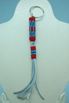 Beaded Key Chain Navajo | Native American Beadwork | Beaded Native American Jewelry