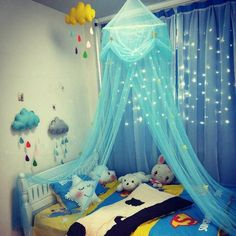 puseky Baby Bed Canopy Kids Round Dome Bed Canopy Play Tent Reading Nook Game Tent for Kids Hanging Mosquito Net Nursery Play Room Decor