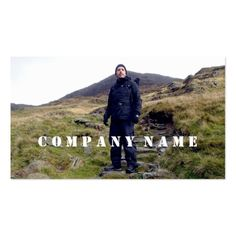 Hiker on Mount Snowdon, Snowdonia, Wales Business Card