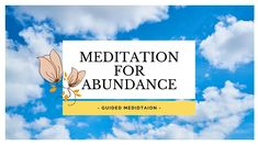 Abundance Meditation - 10 min Meditation to Attract abundance of Love, Wealth and Joy into your Life. It's a loving feeling of knowing you are worthy of living a beautiful, free life. Some of my friends had amazing results with this meditation, I wish the same for you.