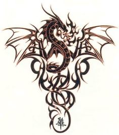 dragon tattoo patterns | Tribal Celtic Dragon Tattoo Designs | Site-Dragon