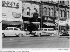506 Queen Street West, Toronto, April 1958. #vintage #Canada #1950s #streets