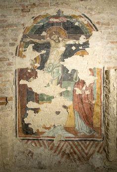 Giunta Pisano (Giunta Capitini, detto) - Crocifissione - affresco - Cripta di San Colombano a Bologna