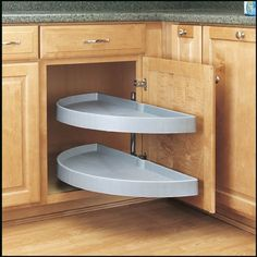 Rev-A-Shelf 31in Half Moon Pivot & Slide Out White Rev-A-...