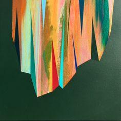 'Ornament (2)' by Mark Jessett, 2017, acrylic on paper over board  www.markjessett.com #abstractpainting #contemporaryabstractart