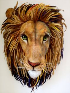 Needle Felted Aslan from Narnia needle Felted by RichardHannaFelt