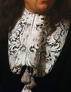 Carlo Maratta, Portrait of a Young Man detail Fashion History, Fashion Art, Old Paintings, Beautiful Paintings, Mode Renaissance, Art Through The Ages, Lace Painting, Hieronymus Bosch, Historical Costume