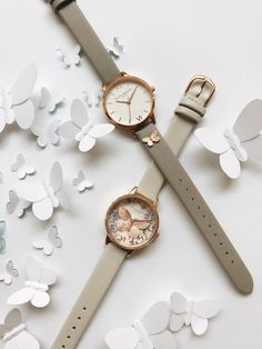 Introducing our striking new butterfly detail! Fancy Watches, Cute Watches, Amazing Watches, Elegant Watches, Beautiful Watches, Nixon Watches, Stylish Watches For Girls, Trendy Watches, Watches Photography
