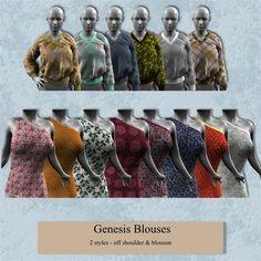 Genesis Blouses 2. Such pretty V-necks!