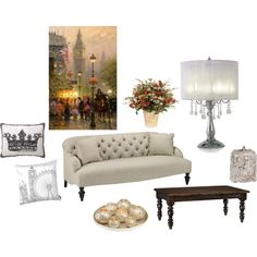 Living Room, created by dmdatz on Polyvore