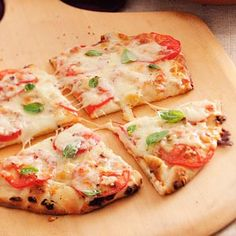 margherita pita pizza...great for when you're short on time & motivation
