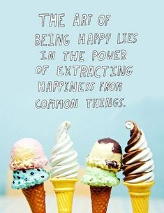 quotes about ice cream and winter - Google Search
