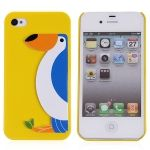 Cute Penguin Design Plastic Protective Case Cover for iPhone 4/4S