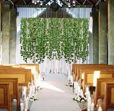 Hogado 84 Feet Artificial Hanging Plants Fake Vines Silk Ivy Leaves Greenery Garland for Wedding Kitchen Wall Outdoor Party Festival Decor Artificial Topiary, Artificial Hydrangeas, Artificial Plants, Hanging Plants Outdoor, Outdoor Trees, Hanging Garland, Greenery Garland, Pink Blossom Tree, Spring Door Wreaths