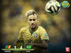 #VivaBrasil Termina el encuentro. Brasil golea a Camerún #Mundial2014