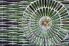 Pared Del Cristal De Botellas