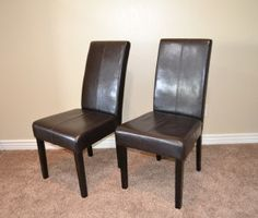 Parson Chair Chevron Slip Cover Tutorial