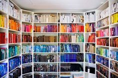 Of course, you're likely a stout defender of organizing your bookshelves by color. | 16 Pictures That Are Practically Porn For Color Lovers