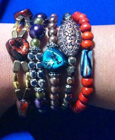 DIY beaded bracelets