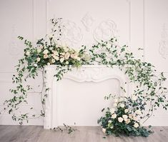 Had the best time in Muskoka this weekend setting up for K & E. Finally got to work with the amazing ✨ Highlight of the wedding was taking a boat to drop off the bouquets and set up the chapel! Fireplace from our shoot last year with & Wedding Fireplace Decorations, Wedding Mantle, Rustic Wedding, Floral Wedding, Wedding Flowers, Wedding Greenery, Flower Installation, Wedding Flower Inspiration, Christmas Mantels