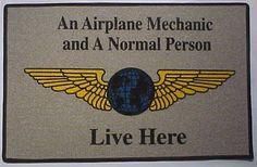 Airplane Mechanic Floor/Welcome Mat