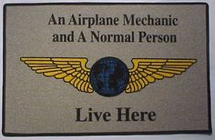Airplane Mechanic Floor/Welcome Mat