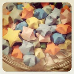 "3D stars...I love this project for those fall evenings while a movie is playing and you want something ""mindless"" to do."