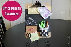 DIY Clipboard Homework Organizer Idea - Crafts Unleashed