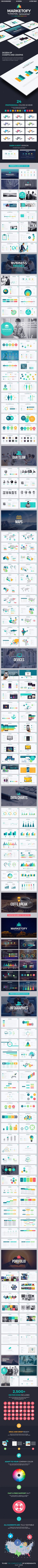 Marketofy - Ultimate PowerPoint Template #design #slides Download: http://graphicriver.net/item/marketofy-ultimate-powerpoint-template/13231486?ref=ksioks