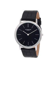 STUHRLING ORIGINAL 601.33151 (ブラック)  シンプルで上品な印象な時計。バンドの素材はレザー素材です。