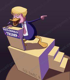 Donald Trump no para de meter la pata. By Paco Ramirez & Mr.Illustrator