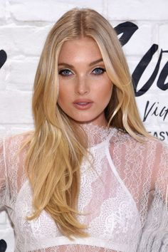 Elsa Hosk Long Center Part - Elsa Hosk was flawlessly coiffed with this center-parted, feathery 'do at the launch of the Easy Collection from Body by Victoria.