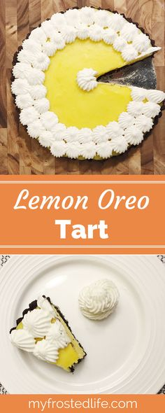 Have you ever tried lemon and chocolate together? This easy Lemon Oreo tart features a chocolate cookie crust filled with a creamy, tart lemon custard filling. With both lemon juice and lemon zest this tart is full of fresh lemon flavor and will have you going back for more!