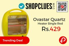 Shopclues #Trending #Deal is offering Ovastar Quartz Heater Single Rod at Rs.429 Only. Outer finish and size remains same. Quartz Heating Element, ISI Safety, Safety Tip-Over Switch, Safety Mesh Grill, Rotating On/Off Switch With Rod Selector.   http://www.paisebachaoindia.com/ovastar-quartz-heater-single-rod-at-rs-429-only-shopclues/