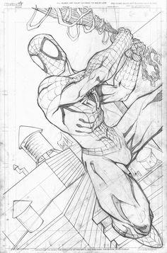 Spidey Swinging by Javier Avila