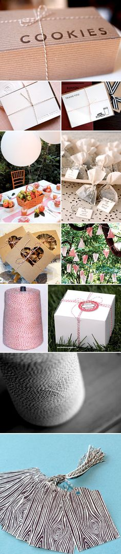Baker's twine wedding decoration for favors, gifts, and decor