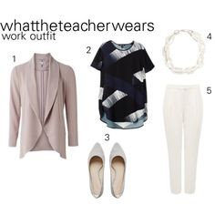 work outfit by whattheteacherwears on Polyvore featuring Forever New and whattheteacherwears
