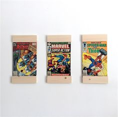 Comic Book Frames - display your favourite comics on your wall with these eco friendly frames by BlisscraftandBrazen on Etsy https://www.etsy.com/listing/272864092/comic-book-frames-display-your-favourite
