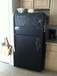 A great place to add decorative doodles, grocery lists, and to-do lists.
