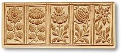 Springerle Cookie Mold: 5 Pictures: Flowers