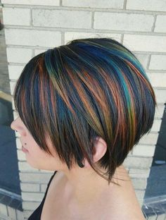 Looking for latest hair color ideas for your short hair? In this post you will find best images of 35 New Hair Color for Short Hair that you will in love! Love Hair, Great Hair, Medium Hair Styles, Short Hair Styles, Pelo Multicolor, Hair Color And Cut, Short Hair With Color, Short Colorful Hair, Short Rainbow Hair