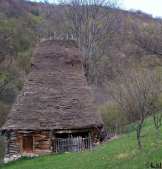 Traditional house from a remote village in Mt. Trascau, Romania