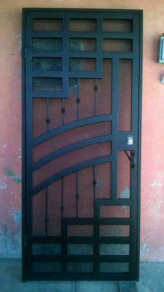 Iron Security Door Ideas With Beautiful Design You Can Use For Your Home - Site Today Grill Gate Design, Window Grill Design Modern, Balcony Grill Design, Steel Gate Design, Front Gate Design, House Gate Design, Door Gate Design, Door Design Interior, Main Door Design