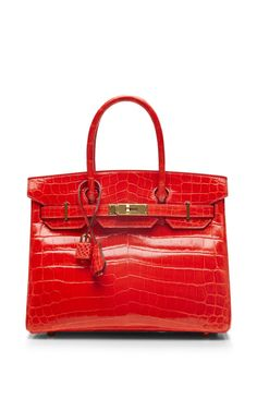 Hermes 30Cm Geranium Shiny Nilo Birkin by Heritage Auctions Special Collection for Preorder on Moda Operandi