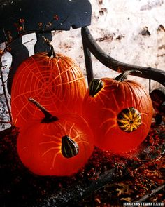 DIY Pumpkin Decor: Pumpkin Spider Creatures