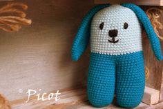 Picot - Szydełkowe Inspiracje: Szydełkowy króliczek przytulanka