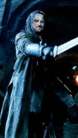 Aragorn (gif) // I could watch this man swing a sword all day long....